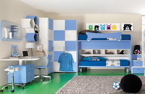 chambre football. Black Bedroom Furniture Sets. Home Design Ideas