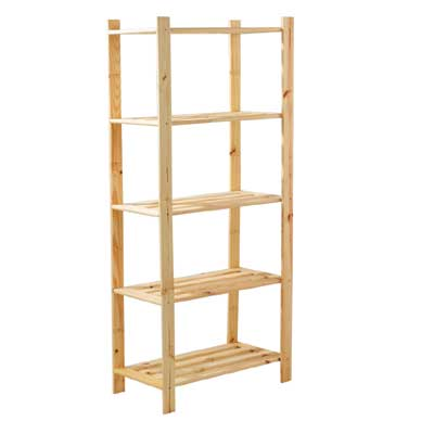 Pine shelf for Etagere bois brut