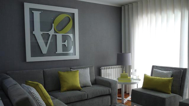 inspirations quelles couleurs marier avec des murs gris. Black Bedroom Furniture Sets. Home Design Ideas