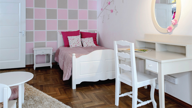 id es d co tendances chambre fille. Black Bedroom Furniture Sets. Home Design Ideas