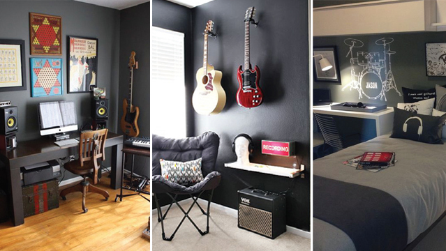 id es d co tendances chambre gar on th me rock. Black Bedroom Furniture Sets. Home Design Ideas