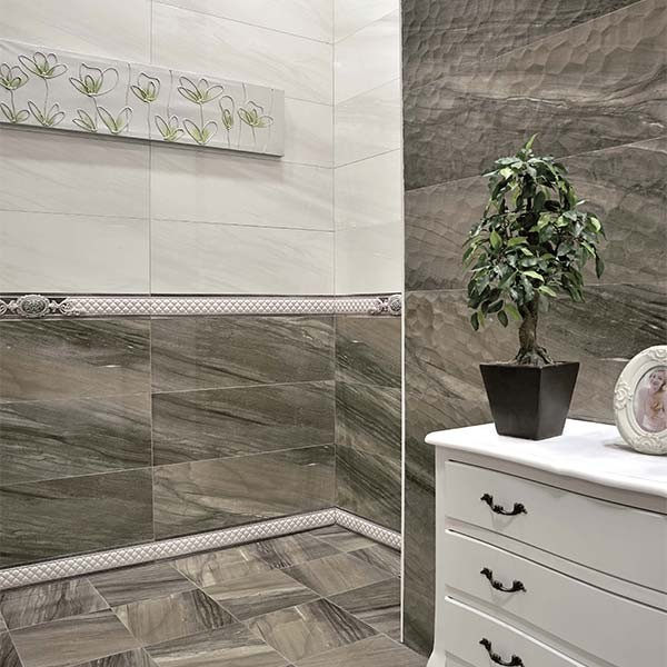 LIBERTY R90 MOKA Bathroom Tiles - LaCase.mu