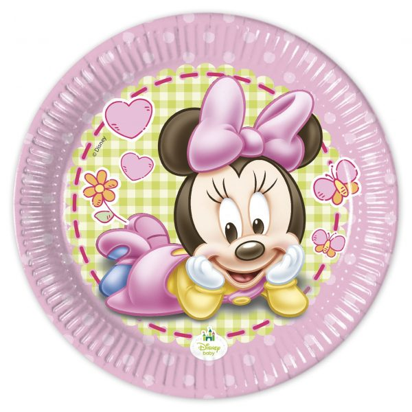 ZOOM +  sc 1 st  LaCase.mu & 8 Paper plates - Baby Minnie Mouse - LaCase.mu