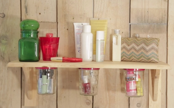 Diy recycle decorative ideas and storage tips for the bathroom - Diy rangement maquillage ...