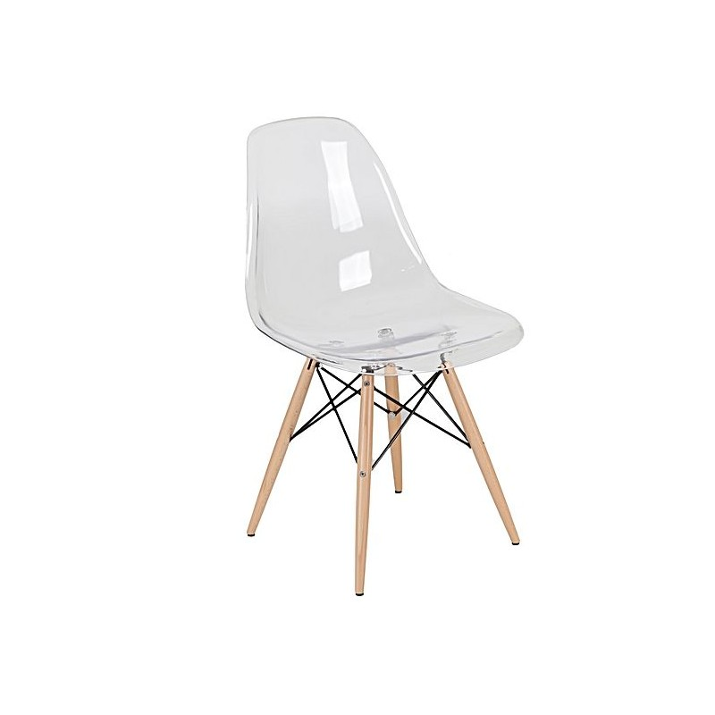 Chaise dsw transparent for Pied chaise dsw