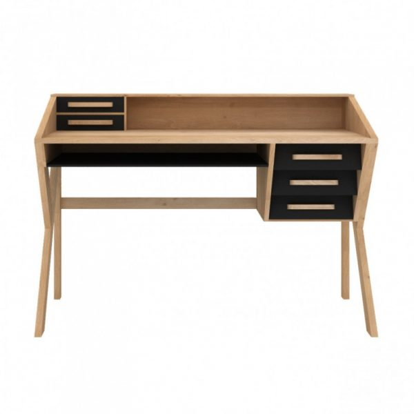 bureau en ch ne marius origami. Black Bedroom Furniture Sets. Home Design Ideas