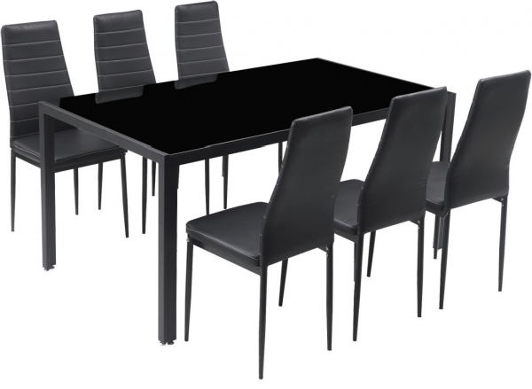 HENRIX Dining Table & 6 chairs - LaCase.mu
