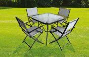 Table et 4 chaises de jardin