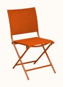 chaise-pliante-orange