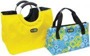 Sac shopping jaune + sac isotherme