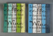 "Panneau décoratif ""Lord, give me coffee"" - FOR20"