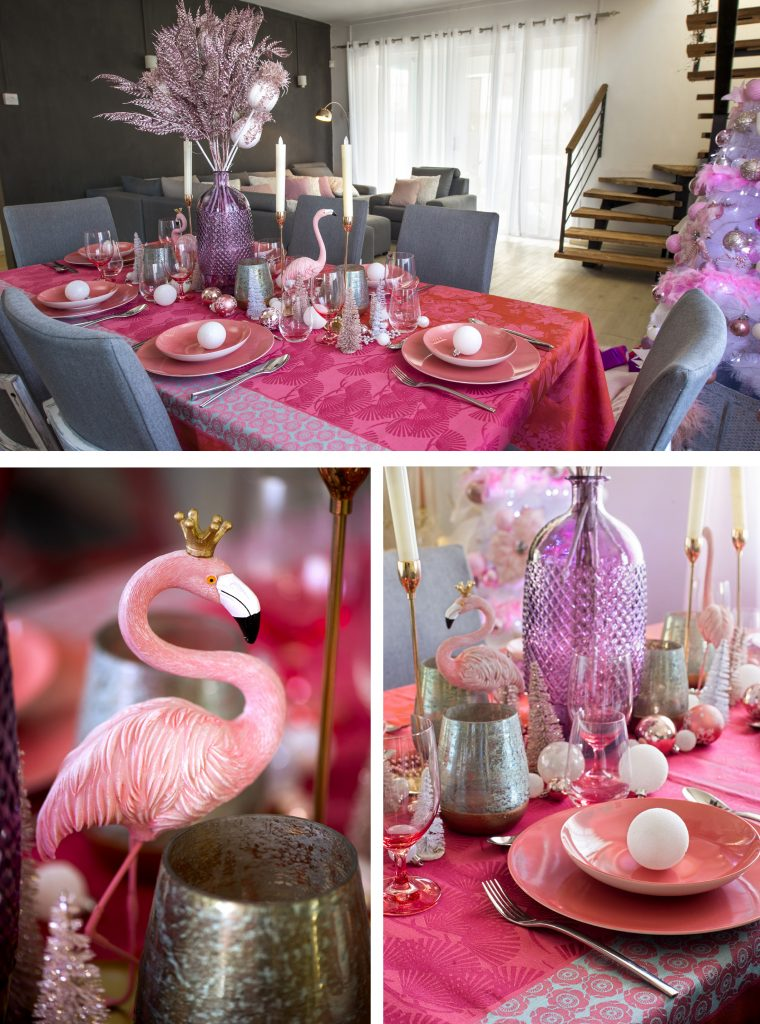 girly-dinner-pink-christmas