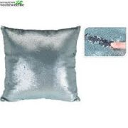 Cushion with glitter