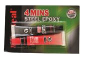 Adhésif epoxy 4mins Epoxy Steel
