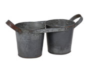 Set de 2 pot en métal