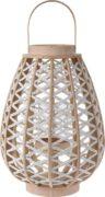Lanterne en bois avec corde blanche