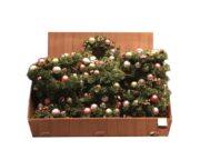 Couronne de Noël avec boules et paillettes