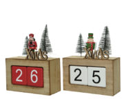 Calendrier avec figurines de Noël