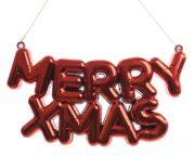 Suspension plastique Merry Xmas
