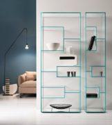 Etagère décorative en verre