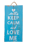 Panneau KEEP CALM & LOVE ME