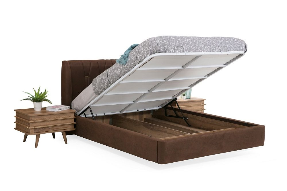 Bed with Lift Storage Teak World LaCase.mu