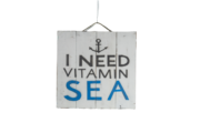 "Decorative panel ""I need vitamin sea"""