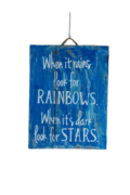 "Rectangular decorative panel ""When is rains look"""