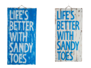 "Rectangular pannel ""Life's better with sandy toes"""