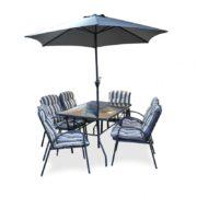 Table et chaises de jardin Nelia