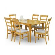 Table extensible et chaises Clearwood