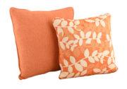 Coussin orange & design Feuilles